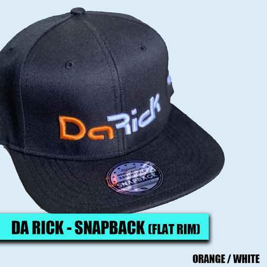 Da Rick - Snapback Cap (orange / white)