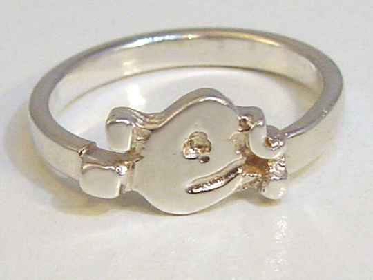 sd4977 Zilveren letter ring