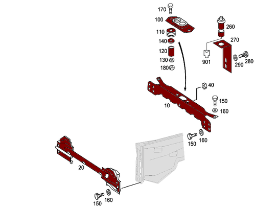 Mercedes-Benz Front Stiffening And Radiator Support [PRO000820]