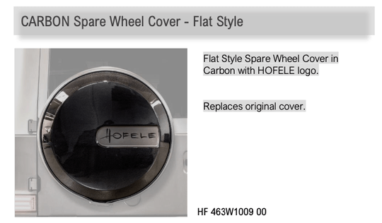 Hofele Carbon Spare Wheel Cover - Flat Style  G Class (W463a) [PRO000879]