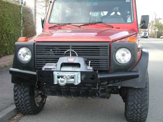 ORC special winch bumper without bullbar Mercedes G, black, until 09/2015 [PRO000058]