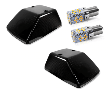 Black Front Indicator Covers With Led Bulbs 2 Pcs. (W460 W461 W463) [PRO000150]