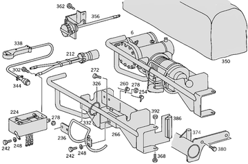Cable Winch Front W460  [PRO001141]
