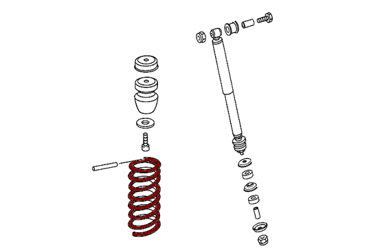 Mercedes-Benz Front Spring RED G Class (W461-W463) [PRO000717]