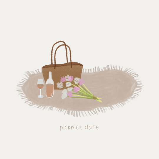 *LIMITED EDITION* kaart - Picknick date