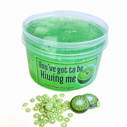 You've Got to be Kiwing Me Slime - Clear Jellycube Slime 250ml
