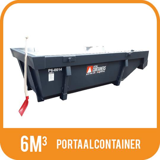 Puin | Portaalcontainer open 6m³