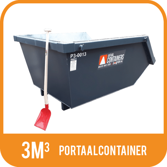 Houtafval | Portaalcontainer open 3m³
