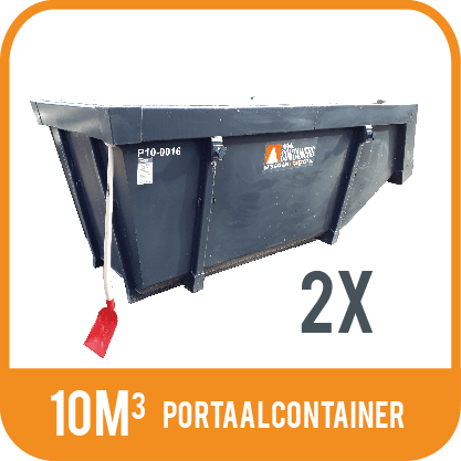 Test 2X Portaalcontainer 6m³