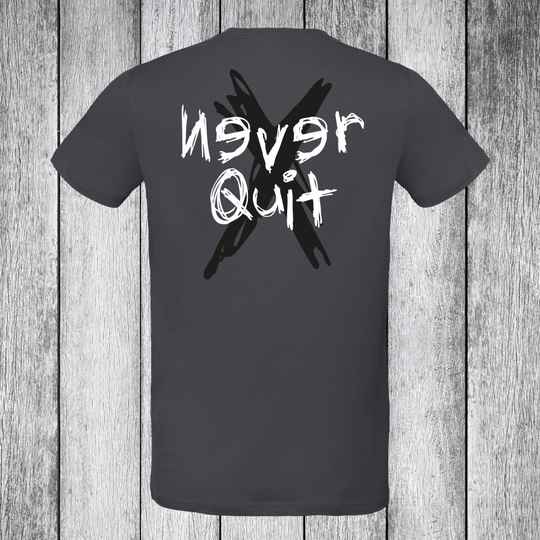 Never Quit Grunge T-shirt Charcoal