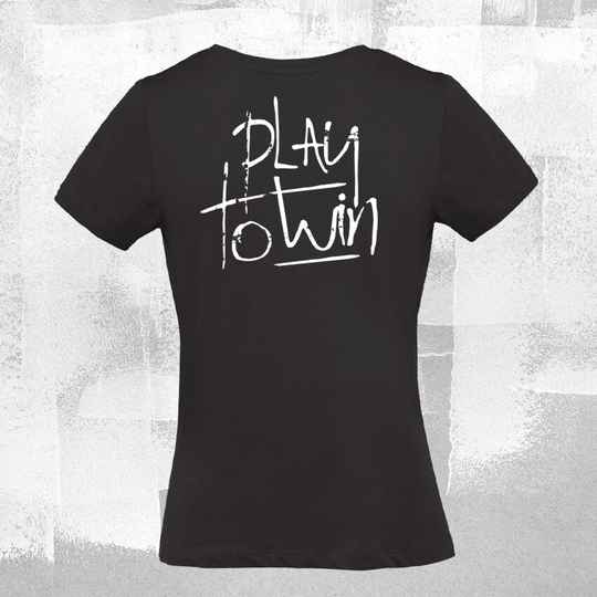 Play to Win dames T-shirt Black