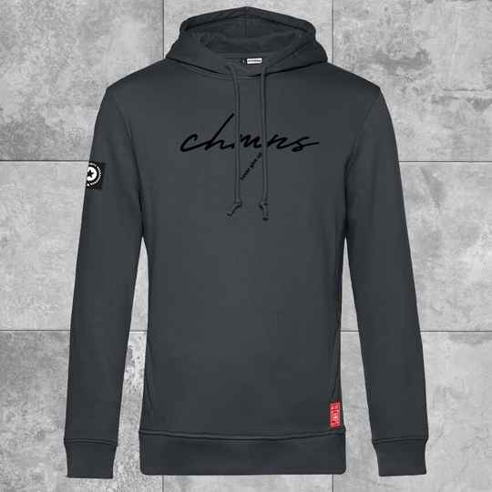Never give up Hoodie Charcoal