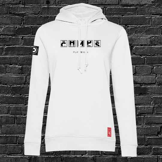 Play to Win Dames Hoodie White