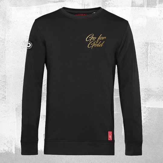 Go for Gold Sweatshirt Black
