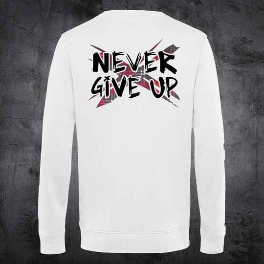 Never Give Up TartanX Sweatshirt White