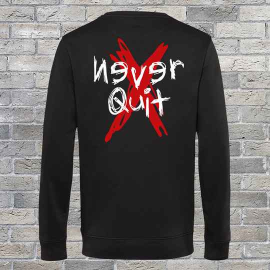 Never Quit Grunge Sweatshirt Black