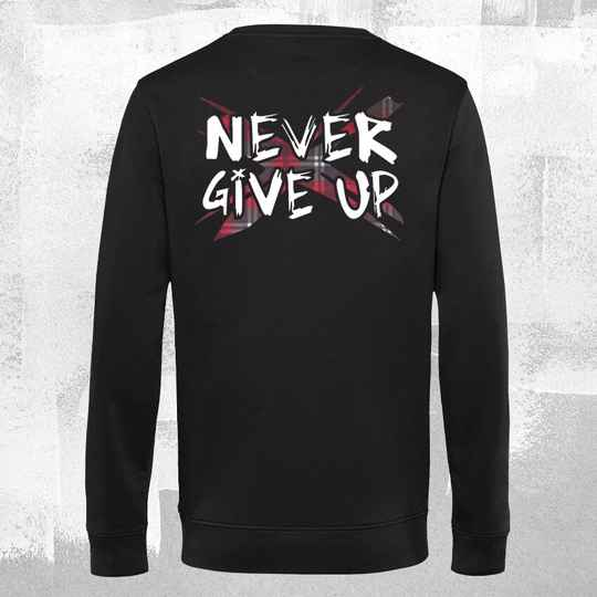 Never Give Up TartanX Sweatshirt Black