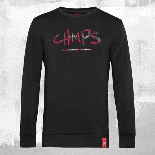 CHMPS Tartan Sweatshirt Black