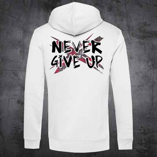 Never Give Up TartanX Hoodie White