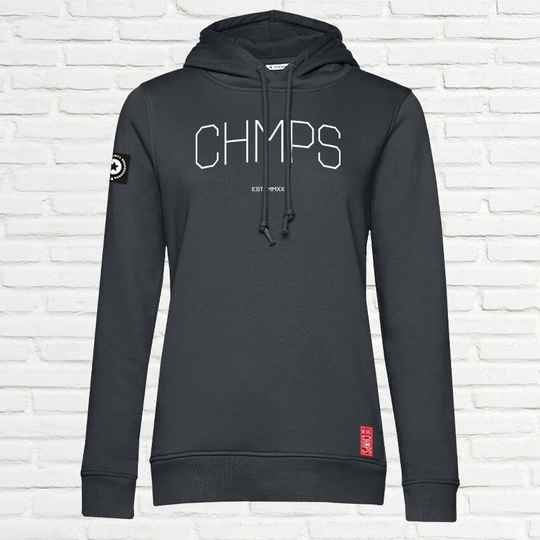 Light Weight  Dames Hoodie Charcoal
