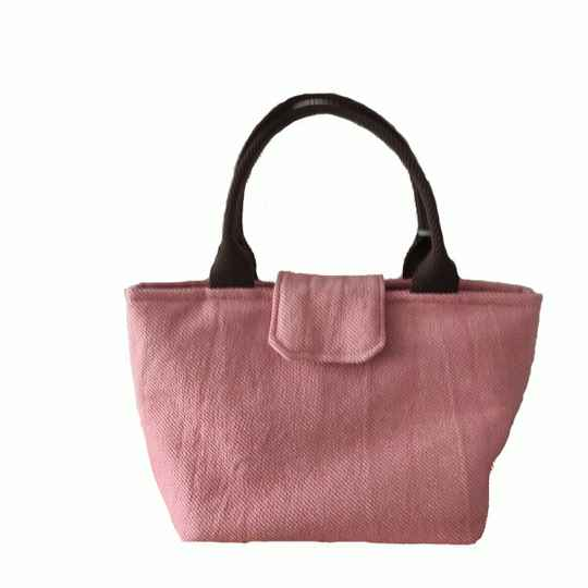 Shopper, klein roze canvas (21.01.009)