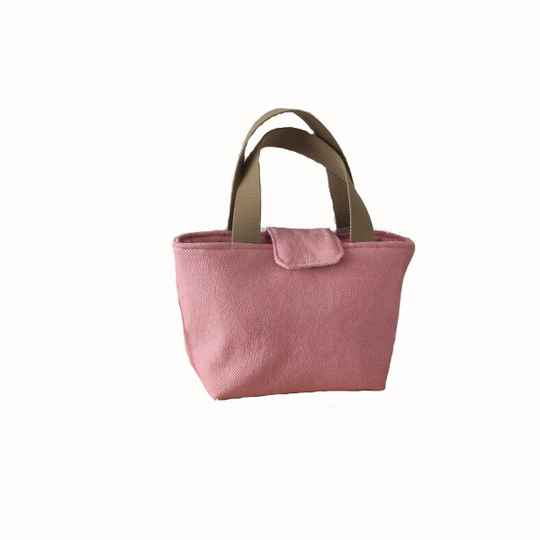 Shopper, klein roze canvas (21.01.011)