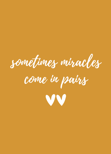 Kaart | sometimes miracles come in pairs