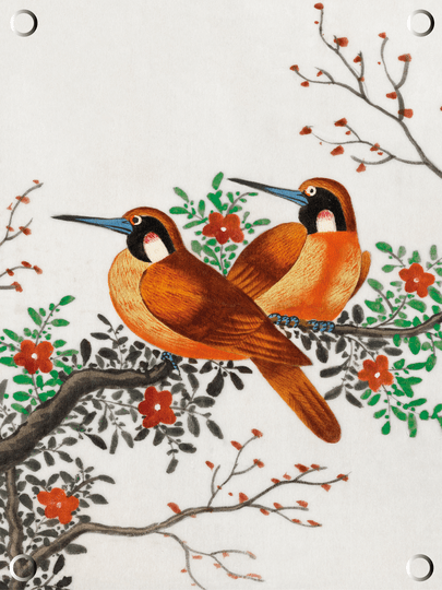 Tuinposter | Chinese vogels