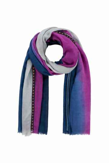 SALE 50% POM Amsterdam Shawl Rainbow Purple