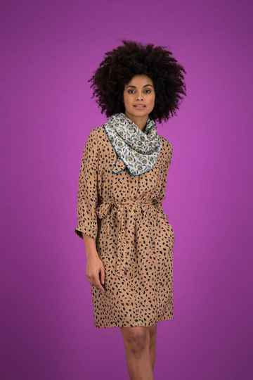 SALE 50% Dress Leopard Sand - POM Amsterdam