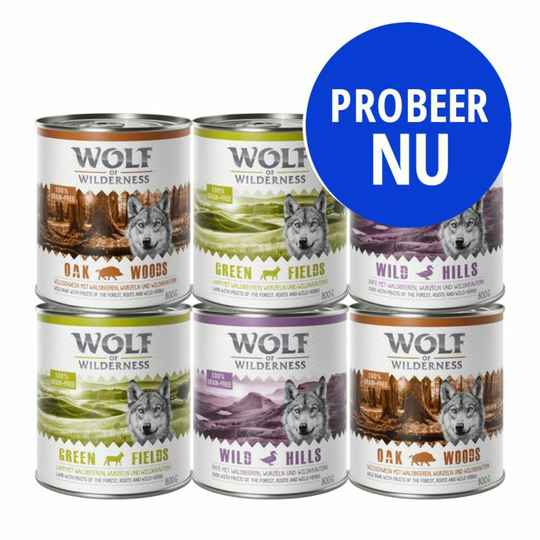 Wolf of Wilderness Adult Gemengde proefpakketten 6x400gr