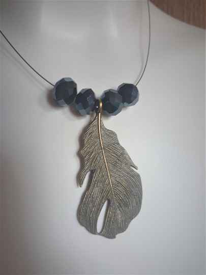 Collier Feather - Handmade