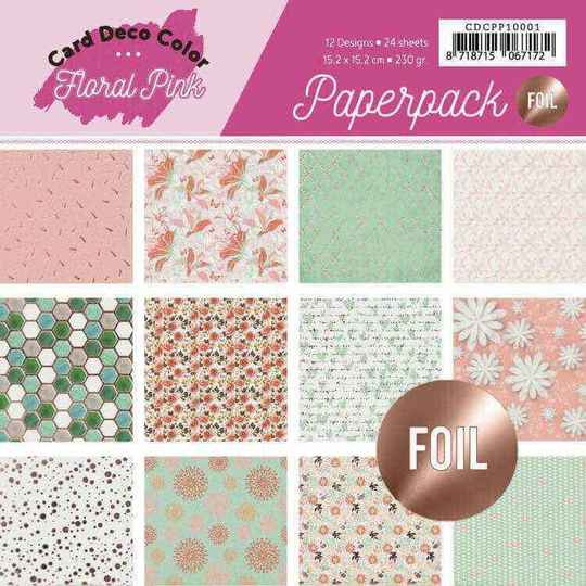CDCPP10001 floral pink foiled