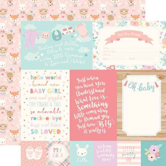 Hello Baby Girl - 4x6 journaling cards