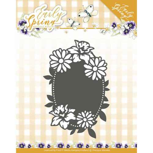 PM10114 spring flowers oval label