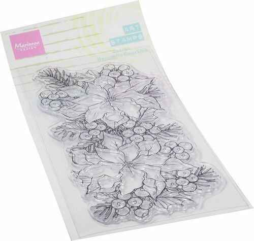 MM1649 art stamps - poinsettia