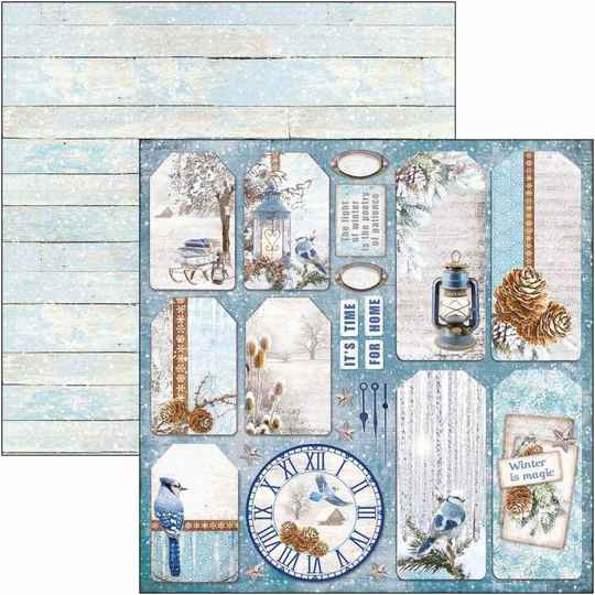 Time For Home - winter tags