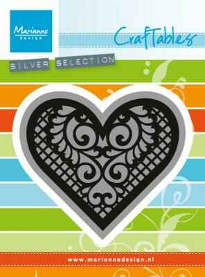 CR1428 lace heart