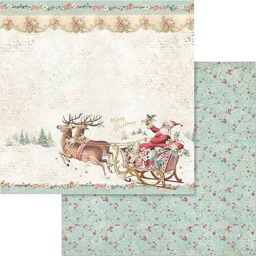 Pink Christmas - Santa Claus with sled