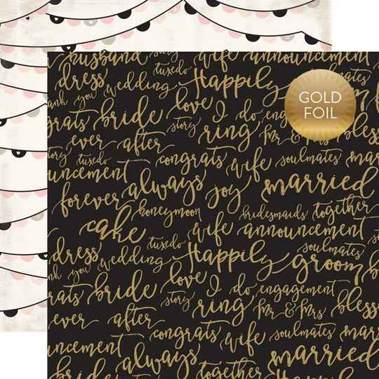 Wedding Bliss - forever and always gold foil