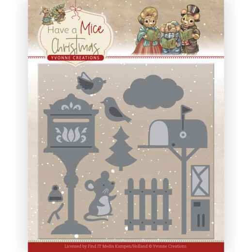 YCD10251 christmas mouse letters