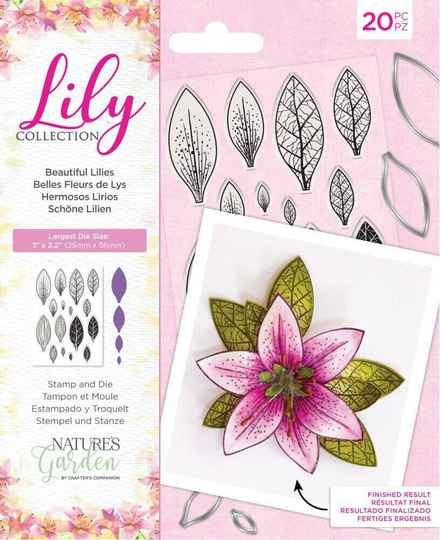 NG-LILY-STD-BLIL clear stamp & die set beautiful lilies