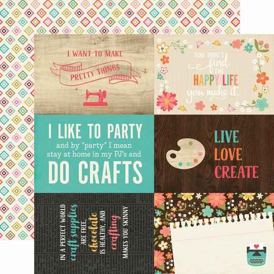I'd Rather Be Crafting - 4x6 journaling cards