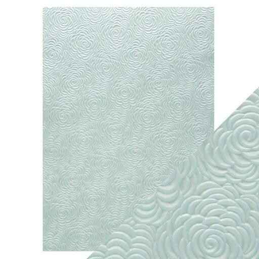 A4 embossed papier iced petals