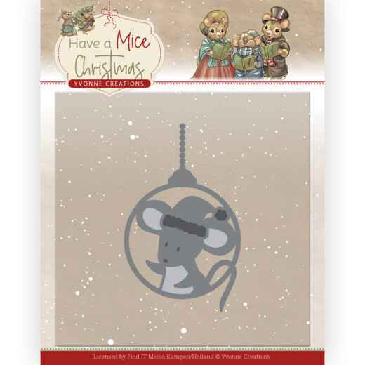 YCD10253 christmas mouse bauble