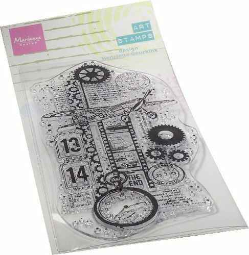 MM1644 art stamps - airplane