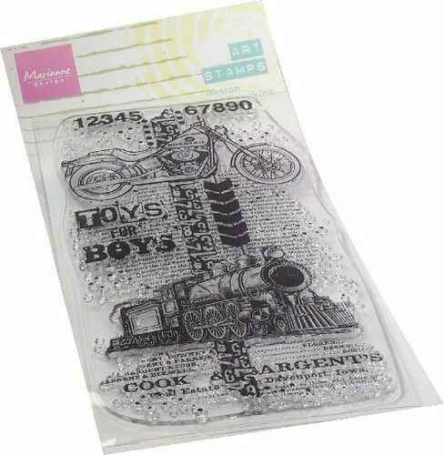 MM1643 art stamps - toys for boys
