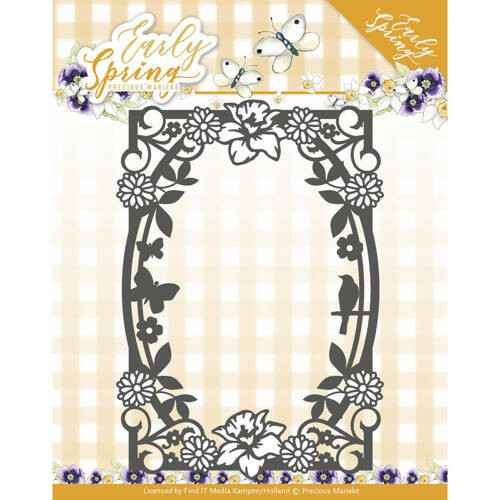 PM10111 spring flowers rectangle frame