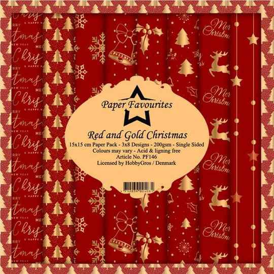 PF146 red & gold christmas