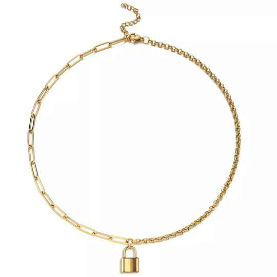 Necklace different chains lock | goud